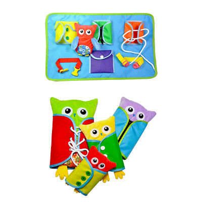 Montessori Learn To Dress Owl Toy Early Learning Basic Life Skills Toys UK • 9.95£