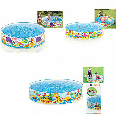 Kids Children 4/5/6ft Rigid Snapset Garden Party Outdoor Paddling Swimming Pool  • 14.95£