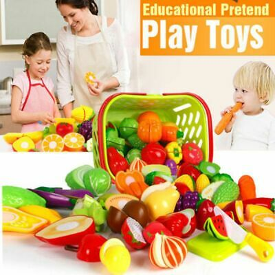 Early Education Kitchen Pretend Play Cutting Toy Simulation Food Role Game • 10.23£