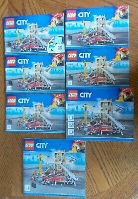 Lego City Downtown Fire Brigade 60216 Instruction Manuals Only (7 Booklets) • 8.99£