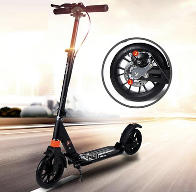 Adult Foldable & Adjustable Big Scooter With Two Suspensions & Two Brakes • 75£