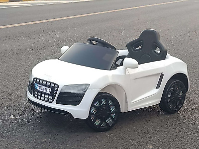 Kids Ride On Audi R8 Electric Battery Remote Control 2.4g Toy Car 12v • 87.50£