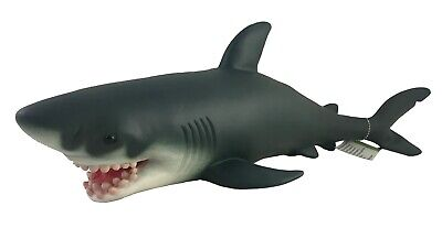 Large 21  (50cm) Soft Stuffed Rubber Shark Play Toy Animal Sea Life Realistic • 15.60£