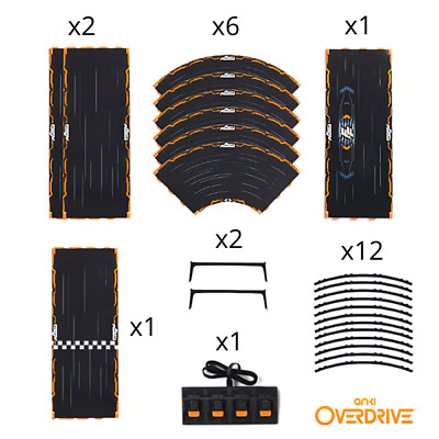 Anki Overdrive Fast & Furious Extra Track Pack 7-in-1 | Curve Speed Car Charger • 14.95£