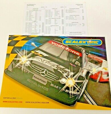 OBSOLETE SCALEXTRIC CATALOGUE UPDATE 2003 44th EDITION. W/ PRICE LIST. • 5.99£