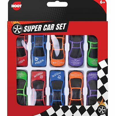 🔥10 X Childrens Mini Plastic Toy Sports Model Cars Interchangeable Racers Set • 2.75£