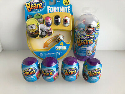 Might Beanz Package - Fortnite 4 Pack, Series 1 Slam Pack (8 Beanz) + 4 X 2 Pods • 19.99£