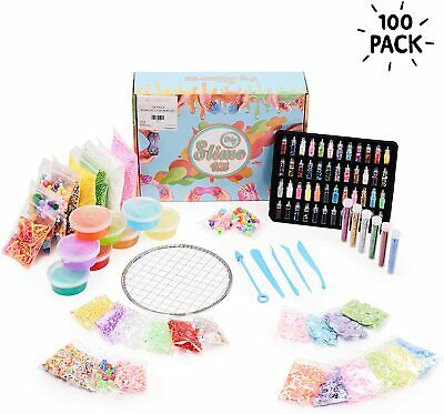100 PCS Slime Making Kit  DIY Design Your Own Slime Fun Kids Indoor Activity Toy • 18.99£