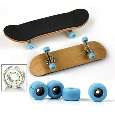 Complete Wooden Fingerboard Finger Mini Skateboard Skate Board Tabletop Toy Gift • 7.59£