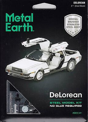 Metal Earth DeLorean 3D Laser Cut Steel Model Kit Back To The Future Official UK • 14.95£