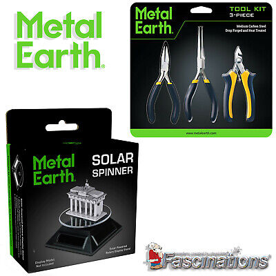 New Metal Earth 3 Pieces Tool Kit  Solar Spinner Fascinations Carbon Steel UK • 16.95£