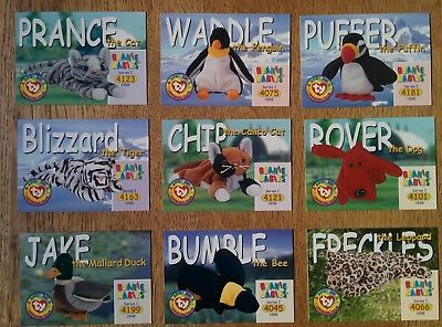 36x TY Beanie Collectors Cards Series 1 1998 All Different As Shown Near Mint  • 912£
