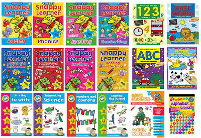 KIDS HOME LEARNING Books Reading Writing Numbers Educational Activity Workbooks • 3.79£