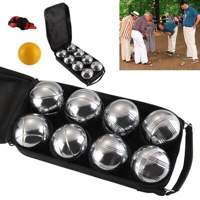 8 French Ball Stainless Steel Boules Set Petanque Outdoor Carry Case Garden Game • 17.99£