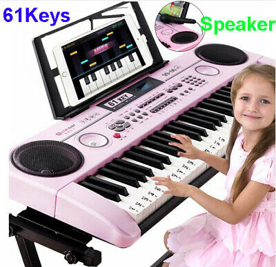 Kid's Electric Keyboard Digital Piano Microphone Gift 61 Keys Instrument Age 2+ • 9.99£