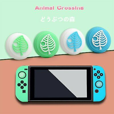 4PCS Thumb Grips Cap Animal Crossing Cover For Switch Joycon Joystick Console • 3.29£