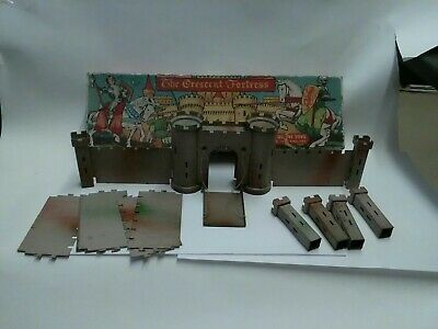 Crescent Vintage Rare Medieval Castle For Knights And Soldier Figures Boxed... • 75.99£