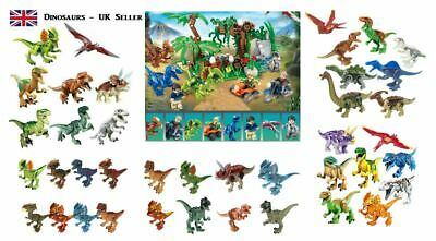 Jurassic World Dinosaur Mini Figures Fit Big Brand Building Blocks UK Seller • 14.99£