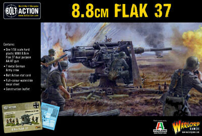 German FLAK 37 8.8cm Bolt Action Warlord Games 28mm SD • 25£