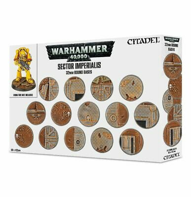 Sector Imperialis 32mm Round Bases - Citadel - Games Workshop - New • 21.99£