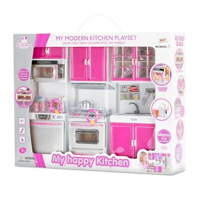 New Modern Kitchen Multiple PCS Kitchen Play Set | Gift For Girls| Pretend Play  • 19.49£