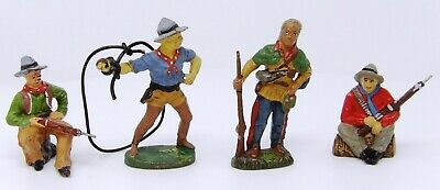 Vintage Elastolin, Lineol, Tipple-Topple Composite Cowboys 70mm. Toy Soldiers.  • 24.99£