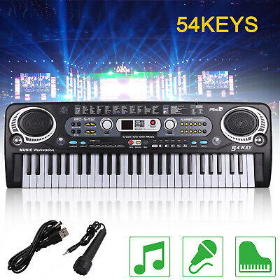 Musical Keyboard Piano  54  Keys Electronic Electric Digital Beginner Adult Gift • 10.99£