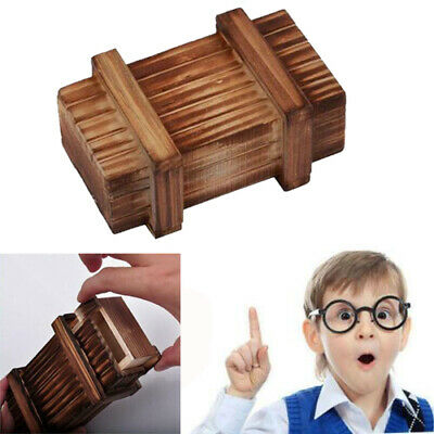 Magic Compartment Wooden Puzzle Box Secret Drawer Brain Teaser Educational Toy • 3.82£