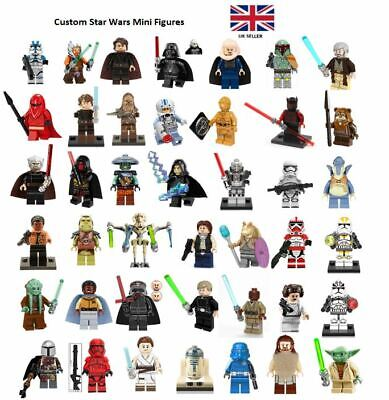 Star Wars Mini Figures Custom Fits Major Blocks Brands UK Seller • 3.39£