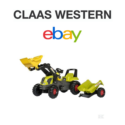 Claas Pedal Tractor With Loader And Trailer • 202.92£