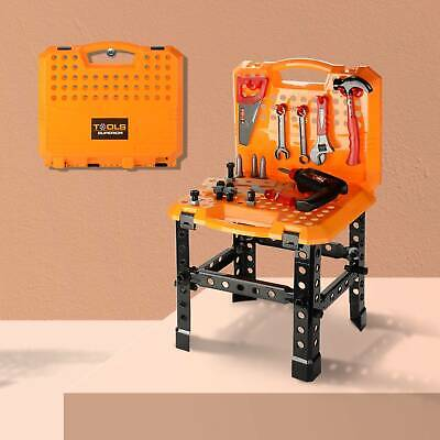 Childrens Kids 57 Piece Work Bench DIY Role Play Toy Set With Tools Drill Xmas  • 12.99£