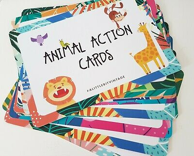 Animal Action Cards • 6.50£