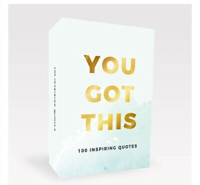 100 You Got This Inspirational Quotes Cards Positive Affirmation Inspiring Gift • 7.99£