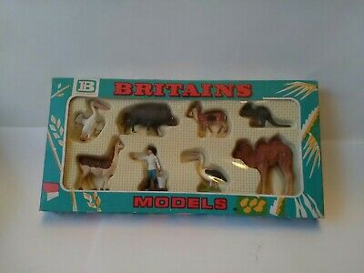 Britains Vintage Plastic Zoo Figure And Animals Mint And Carded No 4361... • 65.99£