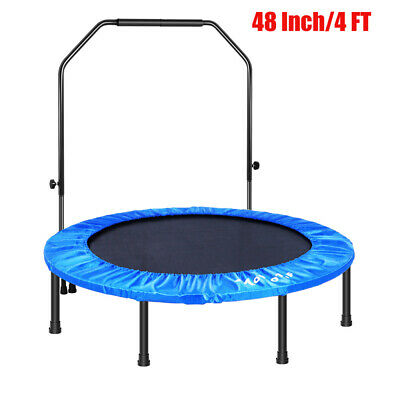 MOVTOTOP 48 Inch Folding Trampoline WithHandrail Fitness Cardio Fitness Exercise • 70.41£