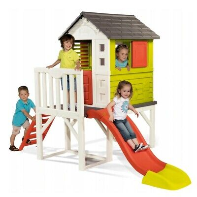 Kids Outdoor Playground Baby Playhouse Garden Toys Playsquare Slide House Smoby • 379.99£