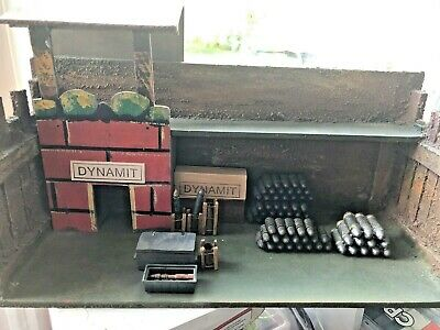 Old Elastolin Dynamite Store With Metal Shells I 14  Long X  6  Wide  X 8  High • 65£