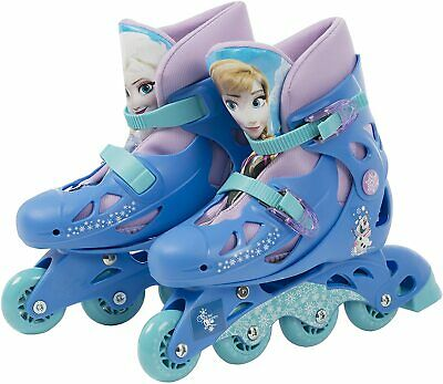 Disney Frozen Inline Roller Skates,  Adjustable Size 13J-3 - DAMAGED BOX • 23.99£