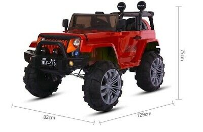 Kids Ride On Car 12v Electric Remote Control Car Jeep Extream 2 Seater Mp3 Toy • 165£