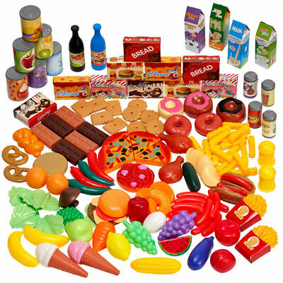 150 Pack Kids Toy Food Fake Food Pretend Kitchen Role Play Food Sets Children  • 15.99£