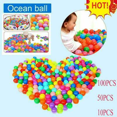10-200PCS Colorful Plastic Balls Pit Balls Crush Proof Ocean Ball Toy Games Kids • 8.19£