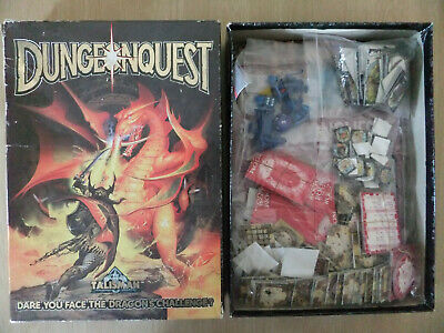 DUNGEONQUEST, D&D Style Fantasy Board Game, Games Workshop 1987,Boxed & Complete • 49.95£