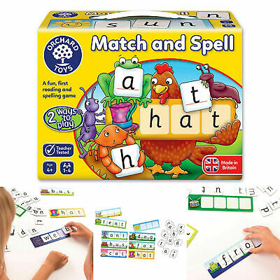 Match Spell Educational Board Game Children Phonics Reading Spelling Learning • 8.49£