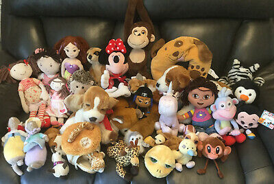 Joblot Bundle Of Soft Toy Figures Toys Collection • 17.99£