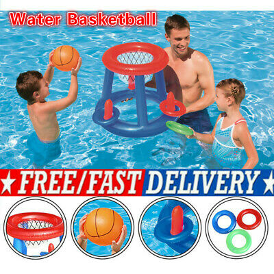 Water Basketball Hoop Pool Float Inflatable Swimming Pool Toy For Kid Family • 4.91£