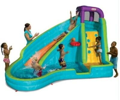 Little Tikes Slam And Curve Inflatable Water Slide/ Pool Child Water Park NEW • 499£