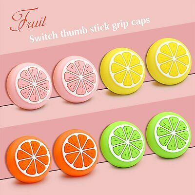 Silicone Sweet Fruits Joystick Thumb Grip Caps For Switch & Switch Lite Joy-Con • 3.04£