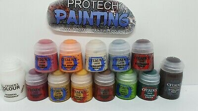 Citadel Paints - Great Starter Set Of 5 Base, 6 Layer & 2 Technical Paint (New) • 29.99£