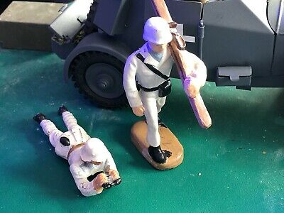 Lineol & Layla Winter Snow Soldiers WW2 1/24  - 70 Mm Excellent Condition • 72.50£