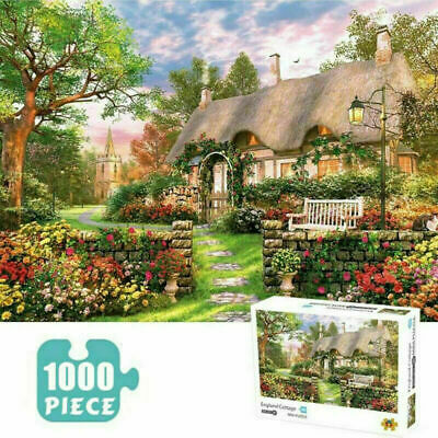 1000 Piece England Cottage Mini Jigsaw Puzzle Puzzles Adults Learning Education • 9.98£